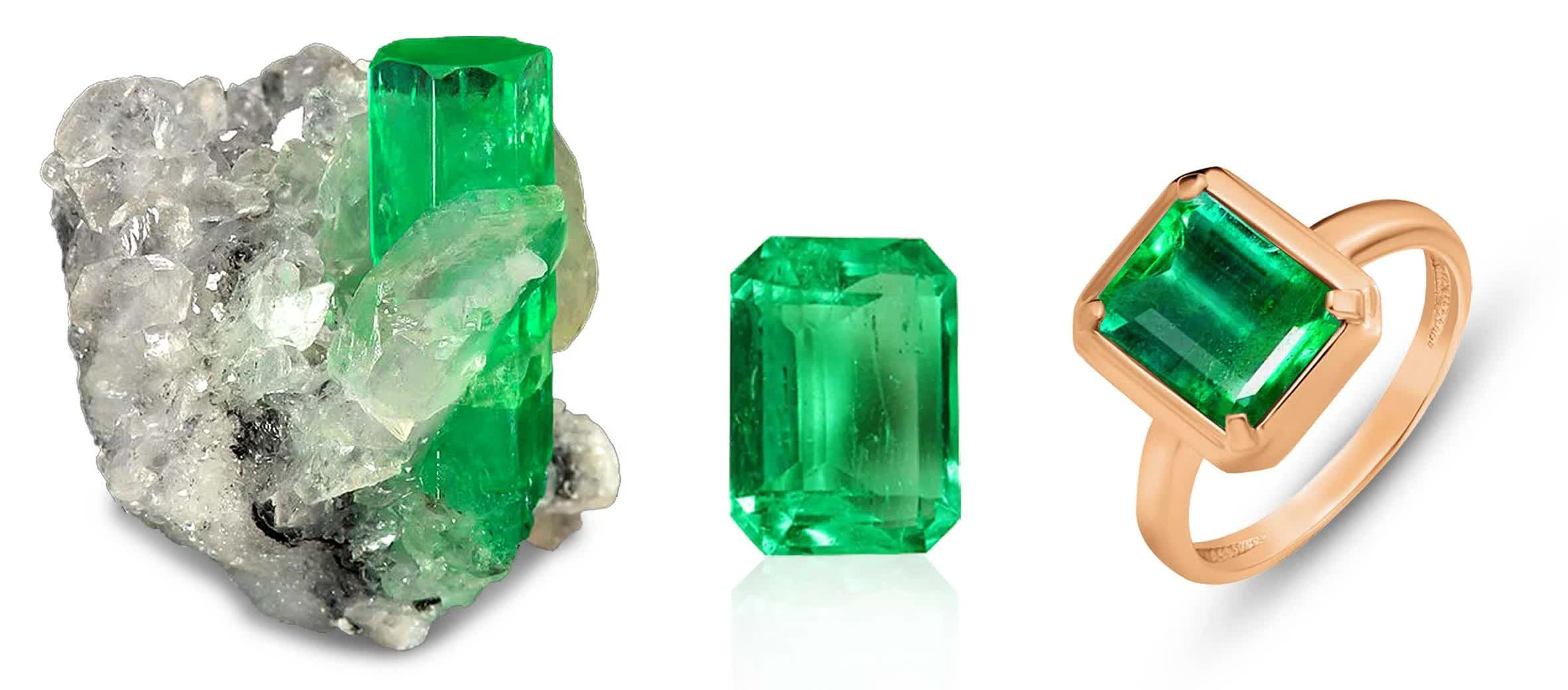 смарагд, кристал, камінь, каблучка