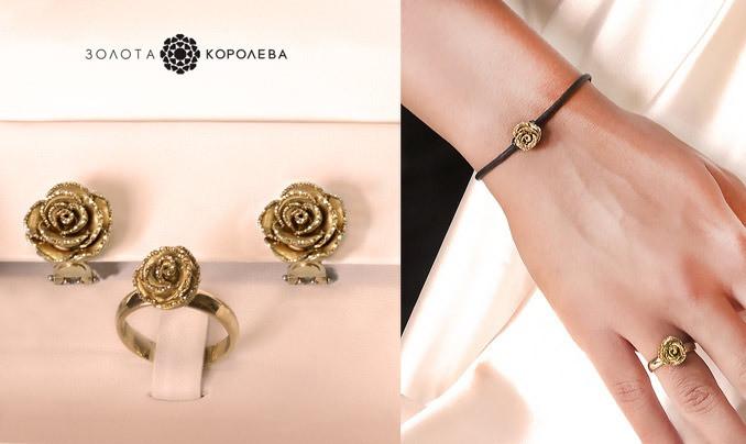 кольцо, золотое, купить, интернет-магазин, золотые серьги, ювелирные украшения, Золотая-Королева