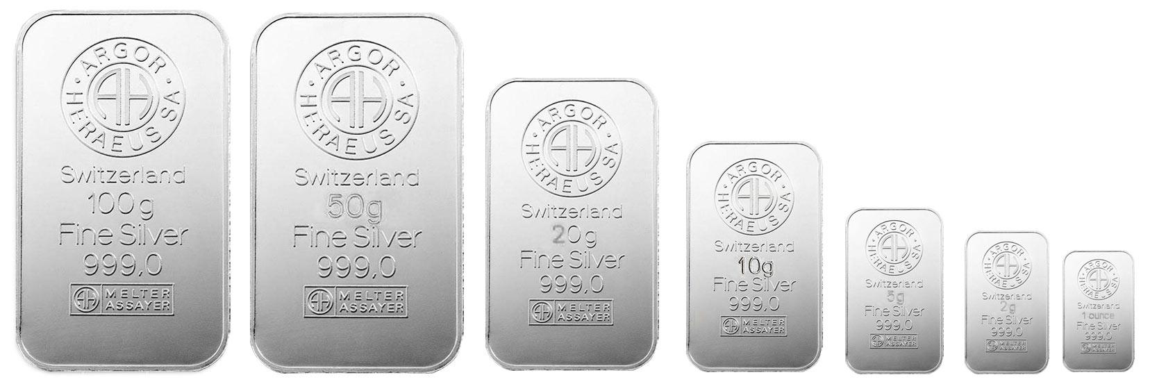 чистое серебро, слитки
