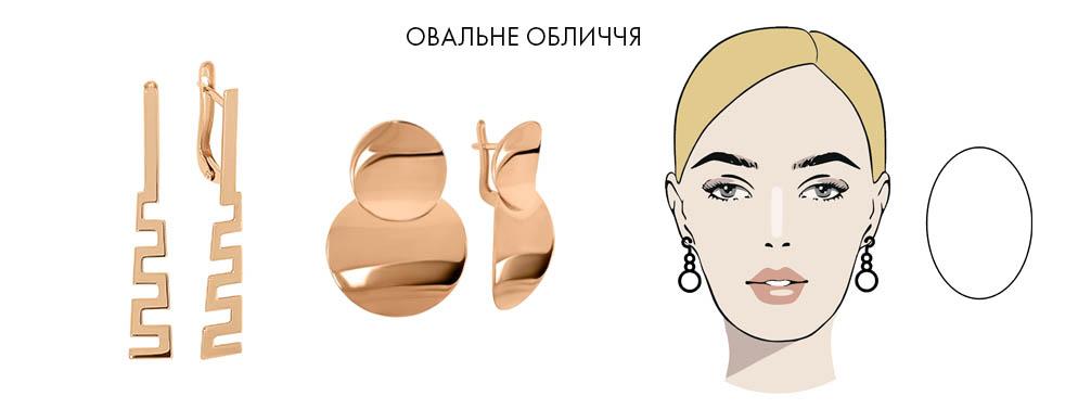 Овальна форма обличчя види сережок
